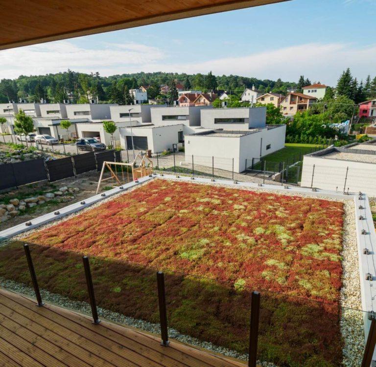 Extenzívna zelená strecha Záhorská Bystrica
